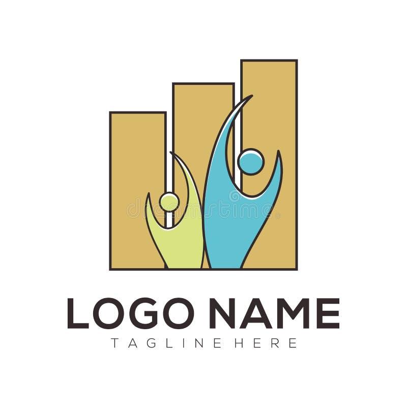 Negocio y diseño asesor del logotipo y del icono stock de ilustración