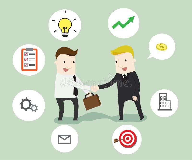 Negocjacja w biznesie ilustracji
