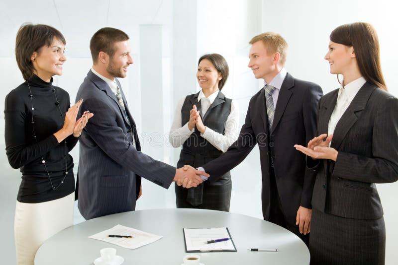 negocjacje pomyślne zdjęcia stock