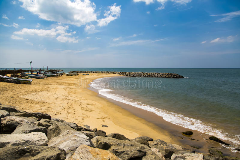 Negombo plaża przy Sri Lanka fotografia royalty free