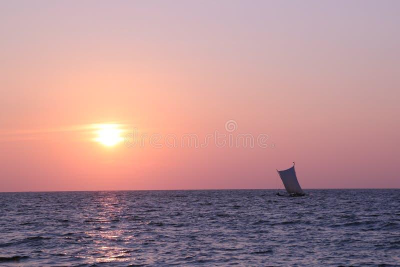 Negombo plaża w Sri Lanka fotografia stock