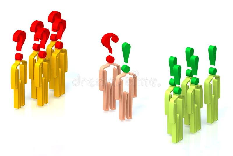 Negotiating 3 stock illustration