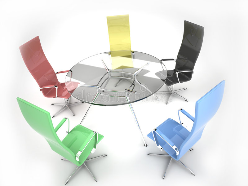 Negotiating table royalty free stock photography