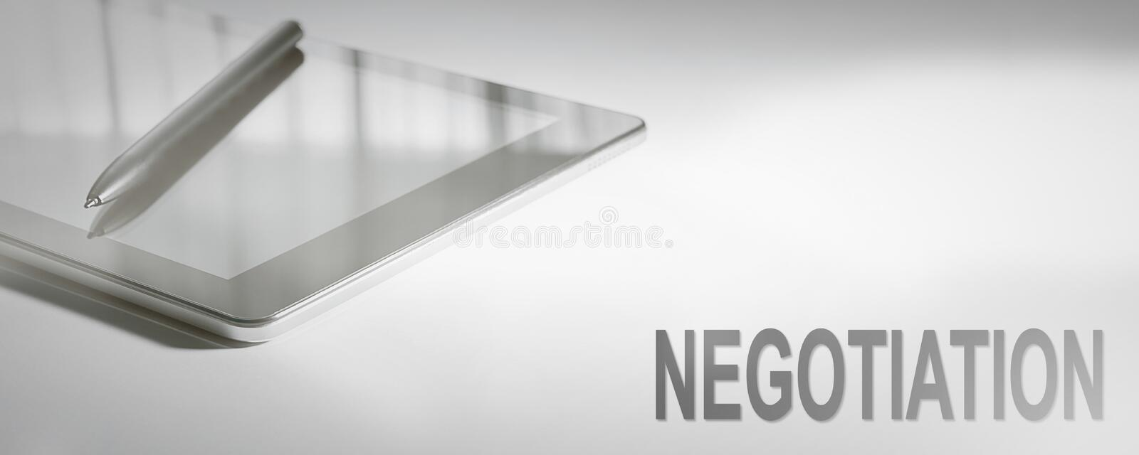 NEGOTIATION Business Concept Digital Technology. stock image
