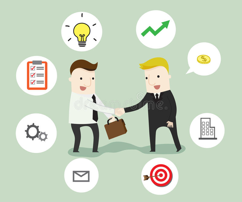 Negotiation in business. Vector illustration business cartoon concept stock illustration