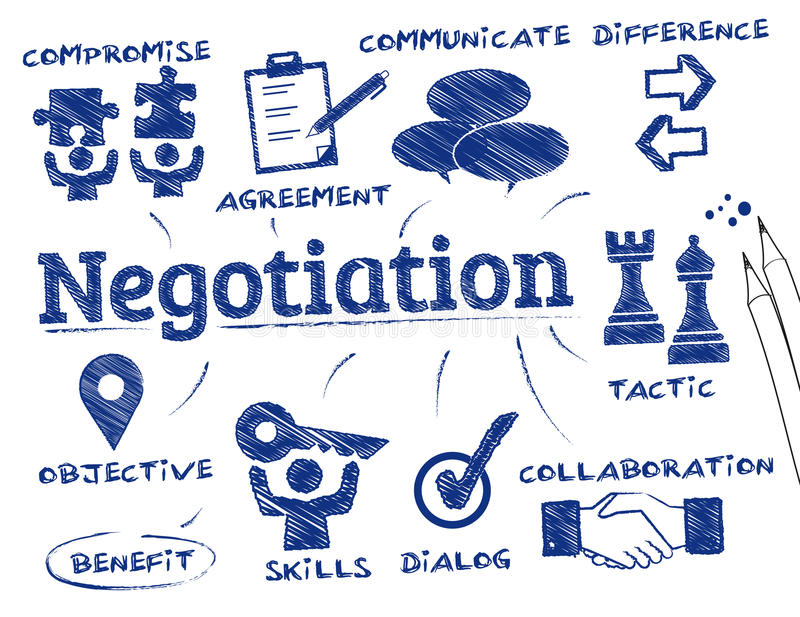 Negotiation concept royalty free illustration