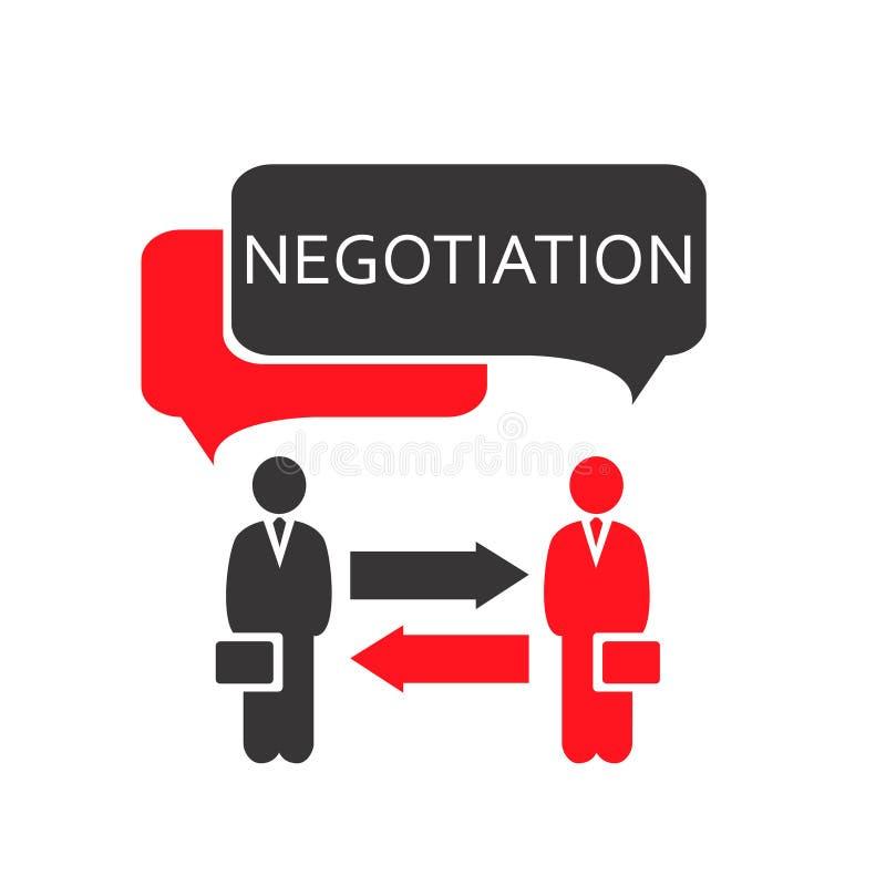NegotiationRed ilustração stock