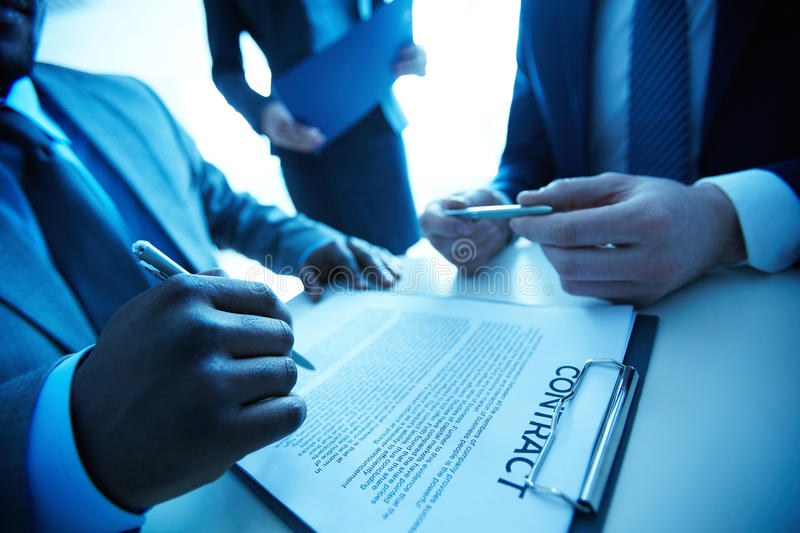 Download After negotiations stock photo. Image of closeup, financial - 33211032