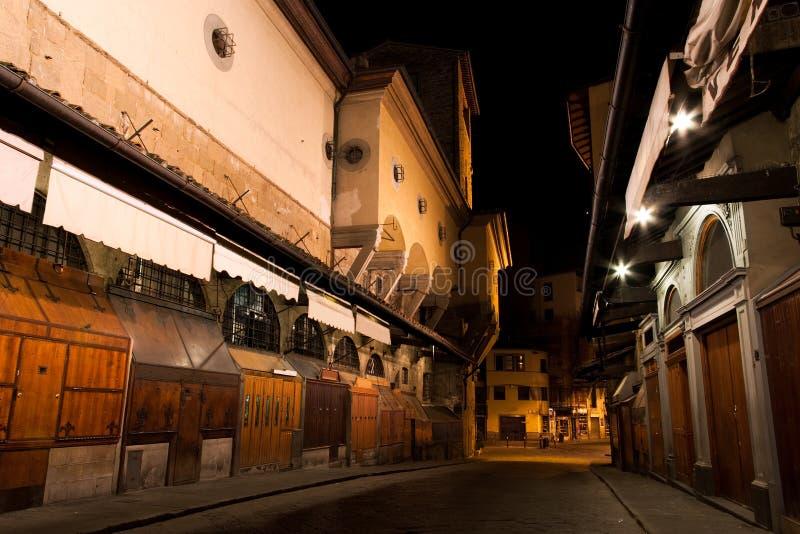 Negozi di monili di Firenze Ponte Vecchio fotografia stock libera da diritti