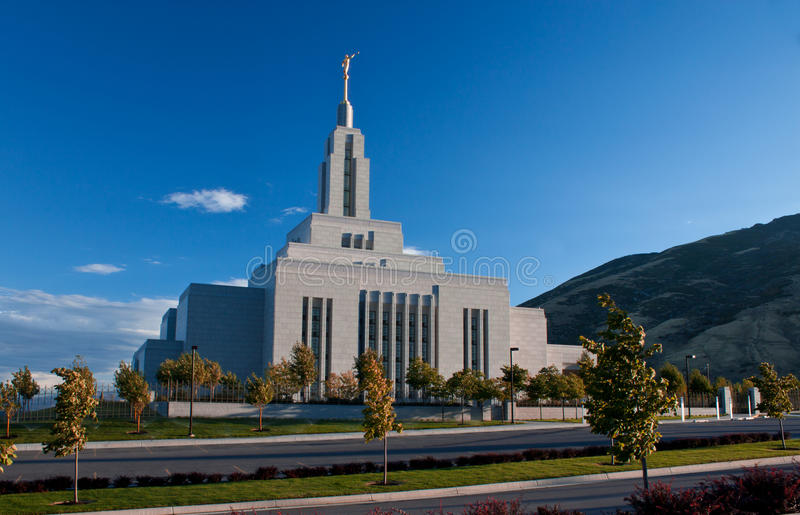 Negoziante di tessuti Utah, tempiale di LDS fotografia stock libera da diritti