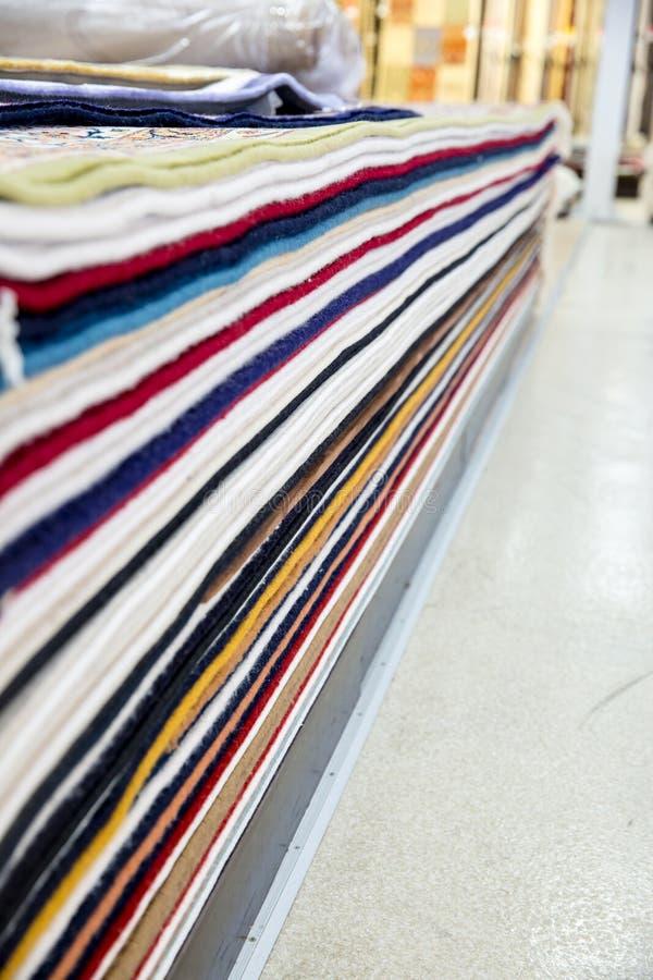 Negozio arabo del tappeto immagine stock