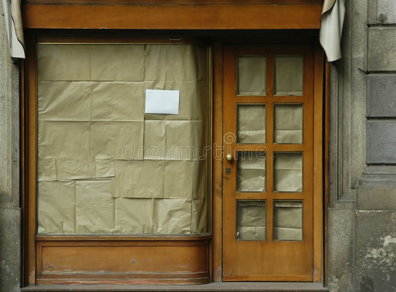 Negozio chiuso - colore fotografia stock libera da diritti