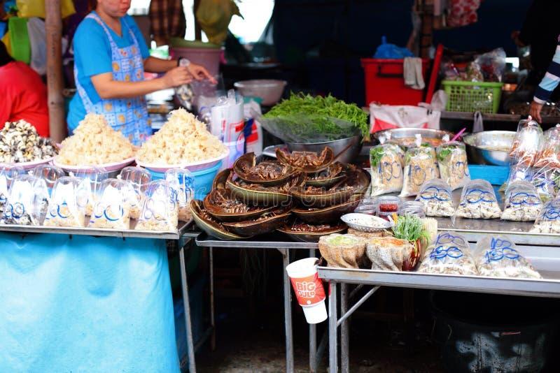 Negozio dei frutti di mare in Tailandia immagine stock libera da diritti