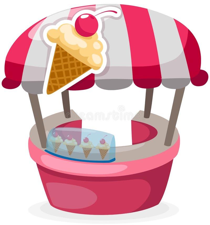 Negozio del basamento del gelato royalty illustrazione gratis