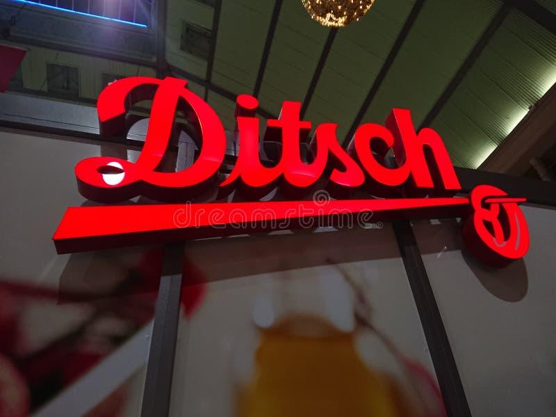 Negozio del forno di Ditsch immagine stock
