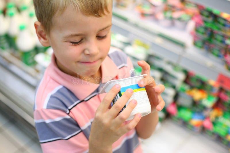 negozio del ragazzo immagini stock