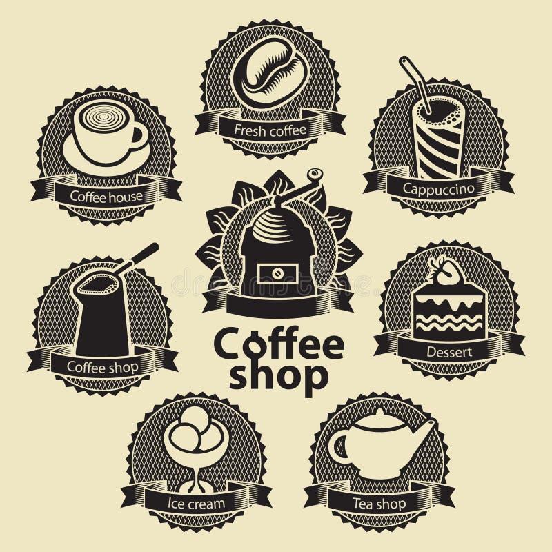 Negozio del tè e del caffè illustrazione di stock