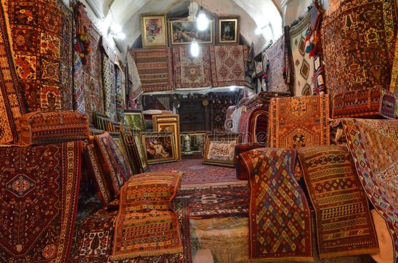 Negozio del tappeto fotografie stock