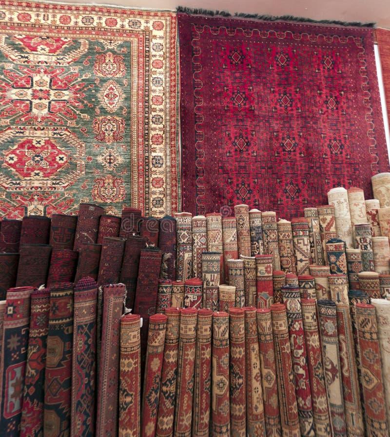 Negozio del tappeto in Riyad fotografia stock libera da diritti