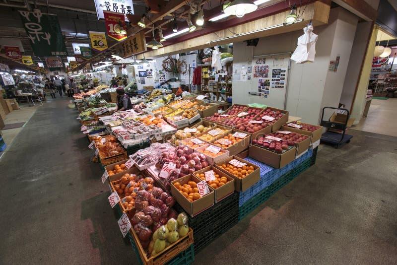 Negozio della frutta del mercato di Akida fotografia stock libera da diritti