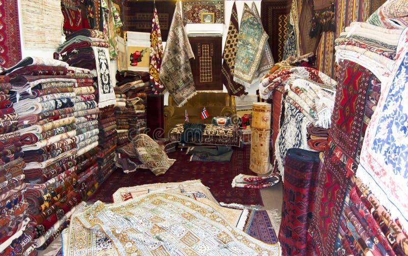 Negozio della moquette a Cabul immagine stock libera da diritti