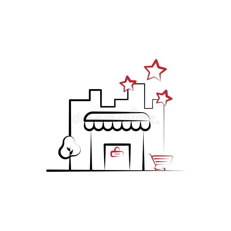 Negozio, deposito, linea colorata icona di affari 2 Illustrazione semplice dell'elemento colorato Negozio, deposito, progettazion royalty illustrazione gratis