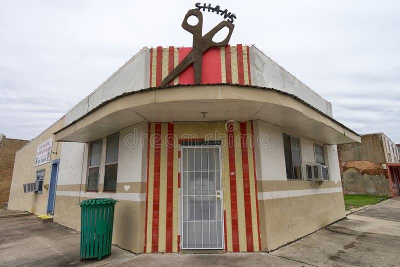 Negozio di barbiere in San Marcos Texas fotografie stock libere da diritti