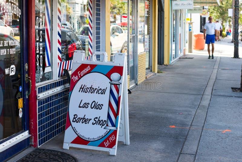 Negozio di barbiere sul boulevard degli ola di Las nel Ft lauderdale fotografie stock libere da diritti