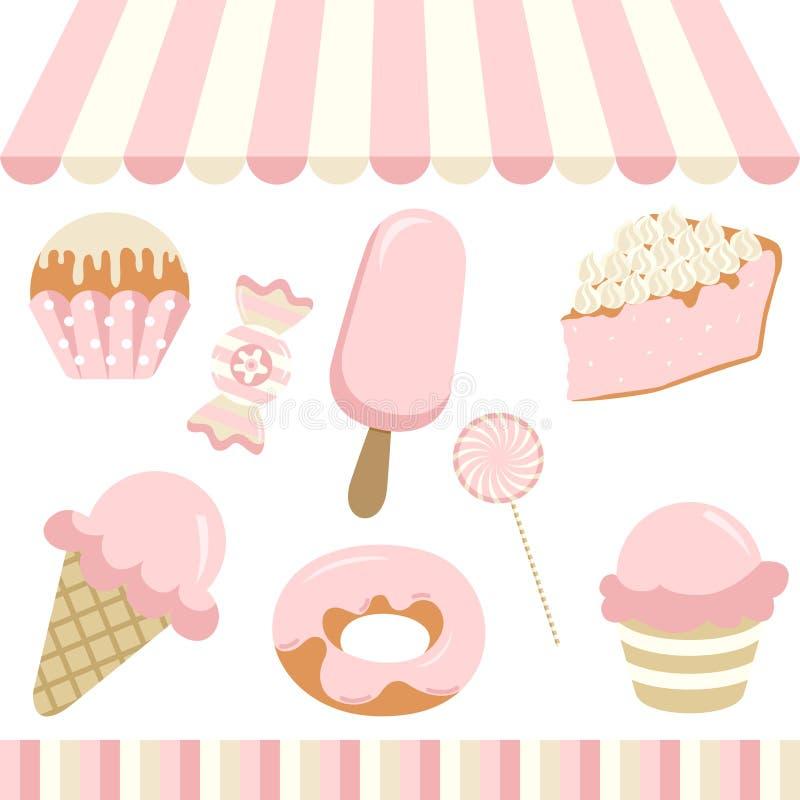 Negozio di Candy illustrazione di stock
