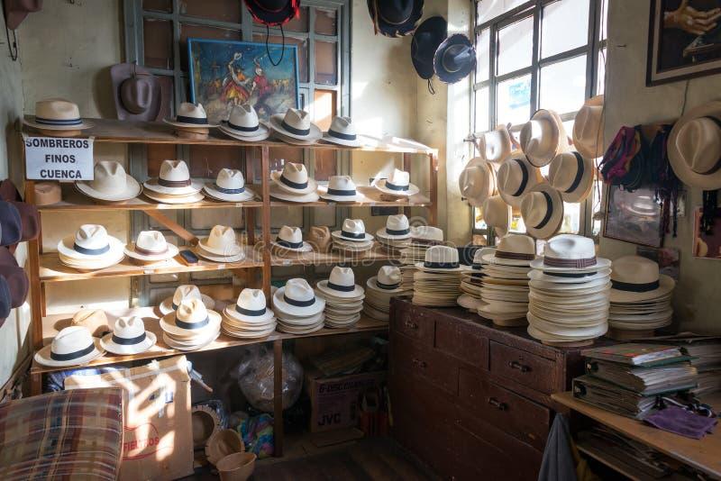 Negozio di cappello di Panama immagini stock