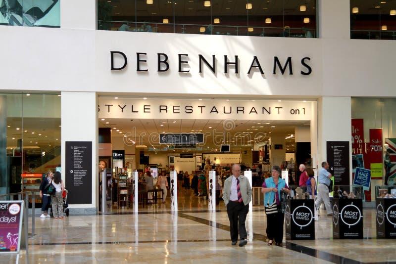 Negozio di Debenhams in un viale immagini stock libere da diritti