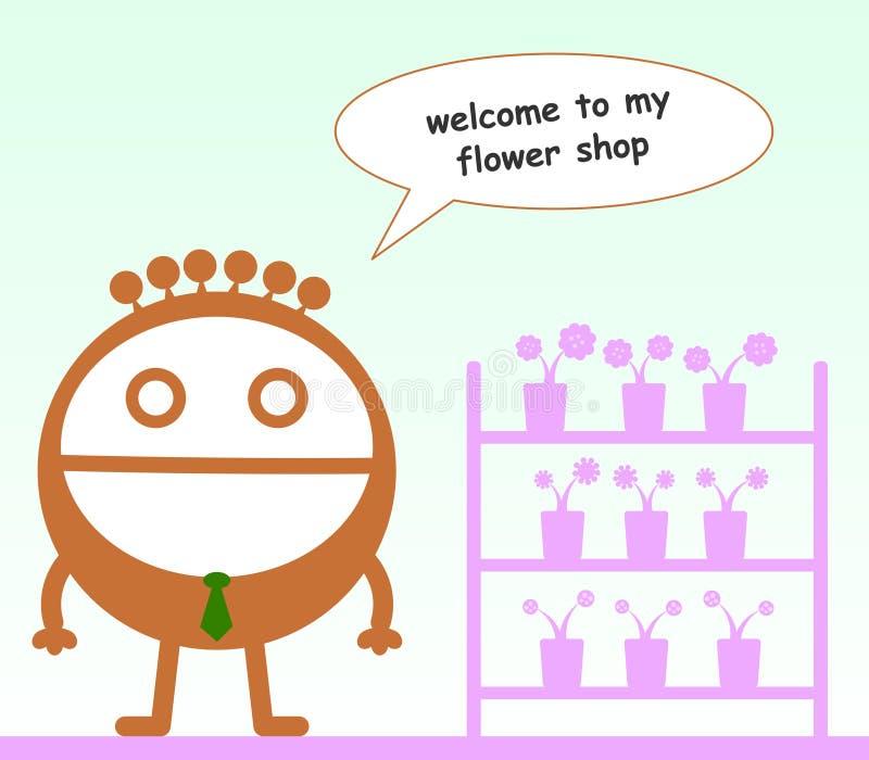Negozio di fiore illustrazione vettoriale