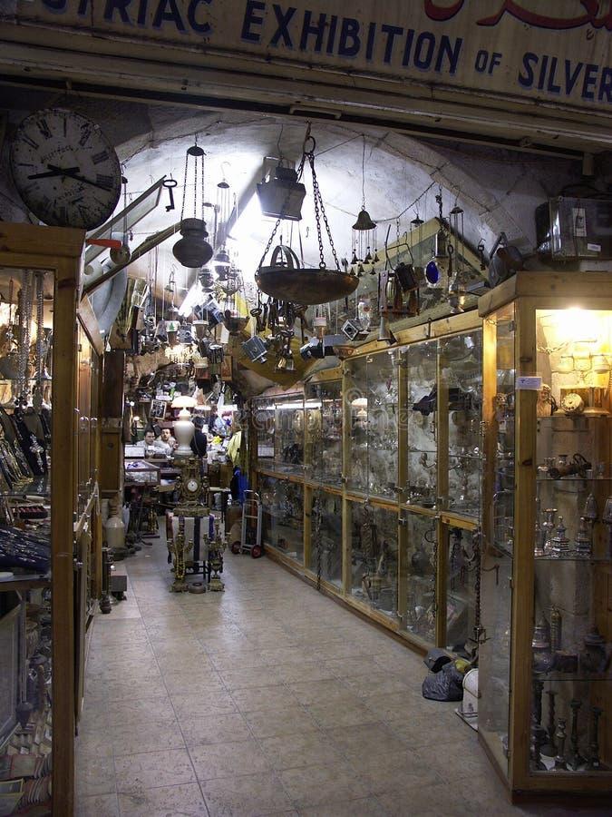 Negozio di oggetti d'antiquariato a Gerusalemme fotografia stock