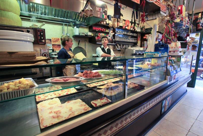 Negozio di pizza a Roma fotografie stock libere da diritti