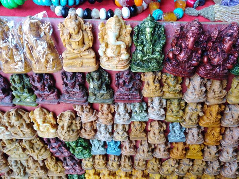 Negozio di ricordo in Arambol, Goa, India fotografie stock libere da diritti