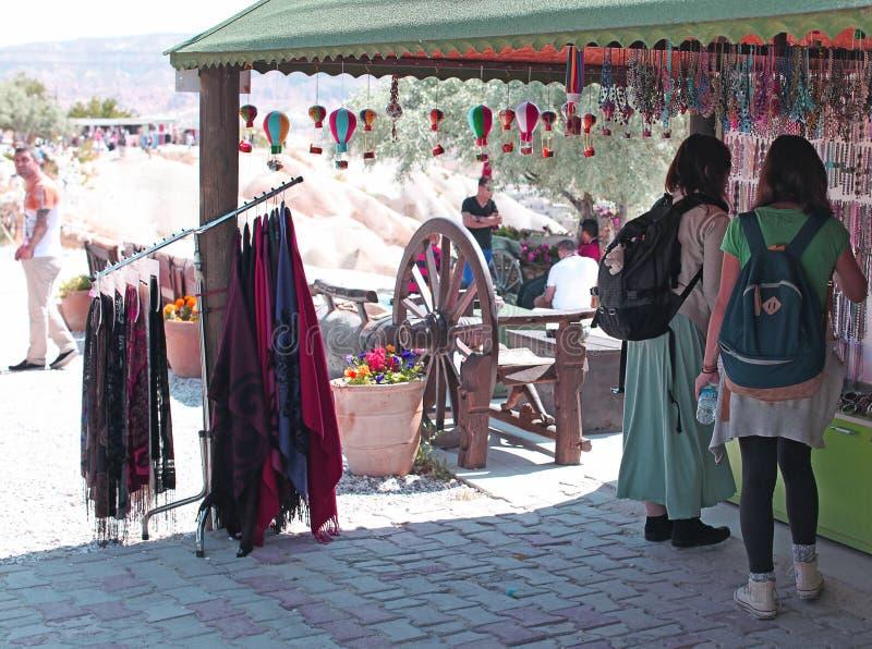 Negozio di ricordo di Cappadocia immagine stock libera da diritti