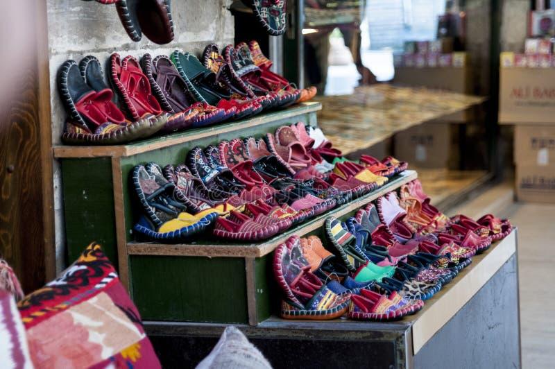 Negozio di scarpe da Costantinopoli fotografie stock