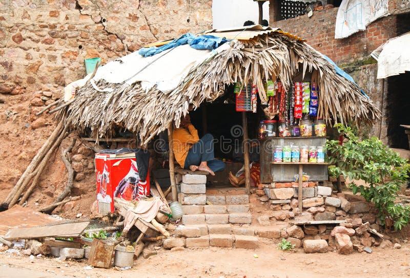Negozio in India rurale fotografia stock