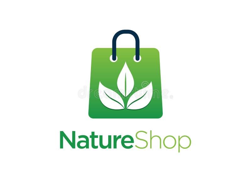 Negozio Logo Design Template della natura royalty illustrazione gratis