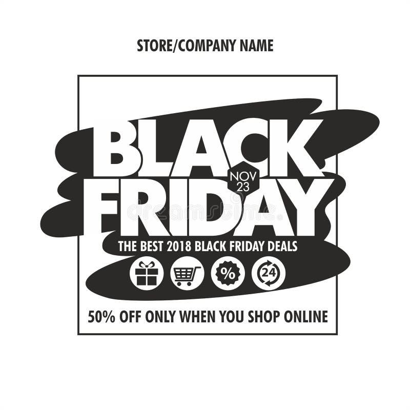 Negozio nero di venerdì online illustrazione di stock