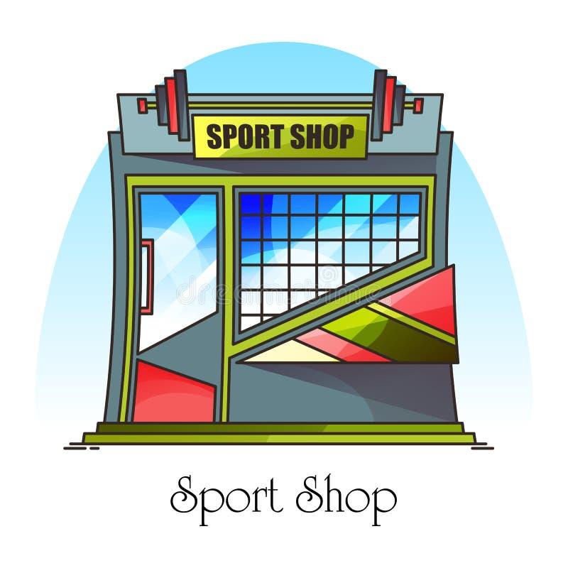 Negozio per sport o accessori per l'installazione royalty illustrazione gratis