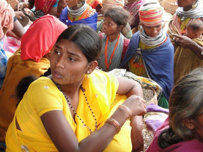 Negozio tribale delle donne di Bonda fotografie stock