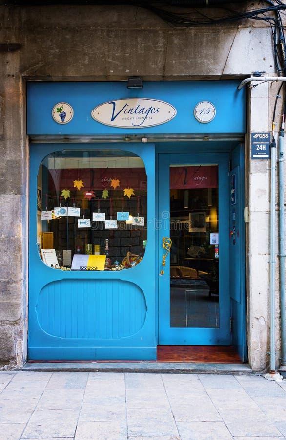 Negozio in vecchia città a Girona fotografie stock