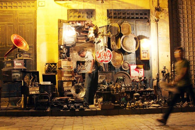 Negozio in via storica di Moez nell'egitto immagini stock libere da diritti