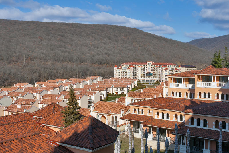Negresko complexo residencial luxuoso em Elenite, Bulgária fotos de stock
