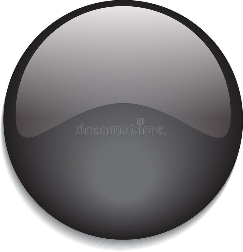 Negro brillante del botón de la web ilustración del vector