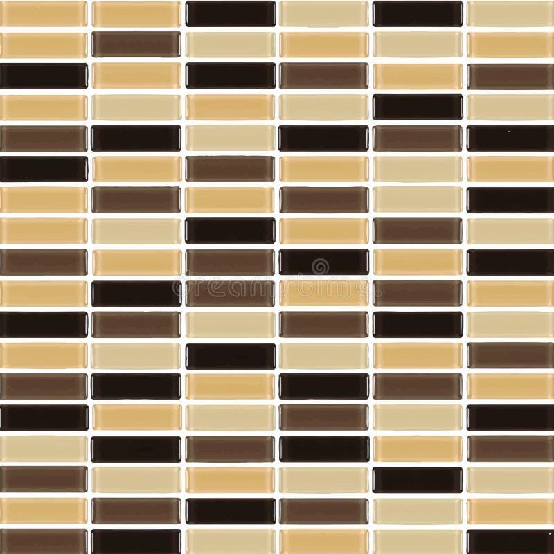 Negro, Brown, desnudos la foto de la pared de la teja o el ladrillo inconsútil y el interior reales de alta resolución de la text ilustración del vector