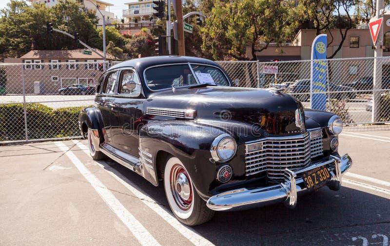 Negro Cadillac 1941 fotografía de archivo