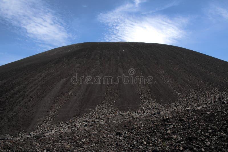 Negro de Cerro do vulcão, perto de Leon, Nicarágua imagem de stock royalty free