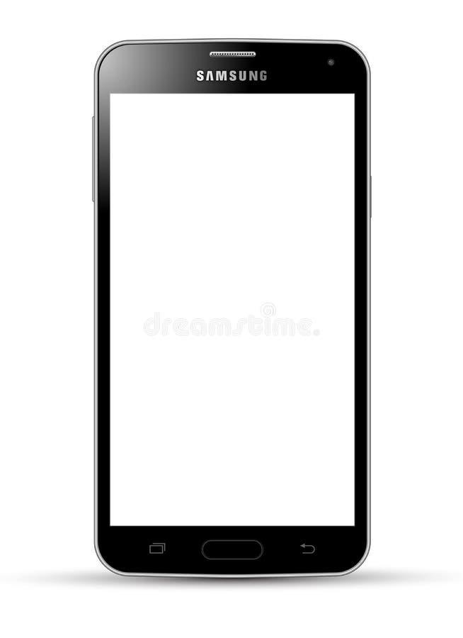 Negro de la galaxia S5 de Samsung ilustración del vector